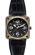 Bell & Ross. BR 01-92 Automatic Pink Gold and Carbon