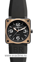 Bell & Ross. BR01-92 Pink Gold & Carbon