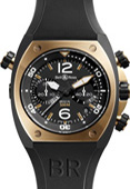 Bell & Ross BR02-94 Pink Gold and Carbon BR02-94 Chronograph 44mm