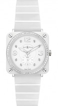 Bell & Ross BR S Ceramic Quartz BR S White Ceramic Phantom Diamond Bracelet