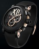Romain Jerome. Style #:CH.T.BBB22.00.BB. Titanic DNA CHRONOGRAPHS RUST ULTRA MASCULINE. 18k Pink Gold / Rusted Steel.