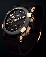 Romain Jerome. Style #: Titanic DNA T.B2B22.00.BB. 18k Pink Gold Flank/ Rusted Steel/ Ceramic