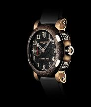 Romain Jerome. Style #: Titanic DNA T.OXY3.2222.00.BB. 18k Pink Gold / Rusted Steel T-Oxy III