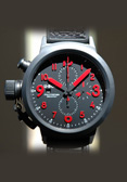 U-Boat. UB-023. Flightdeck Red Ceramic Chronograph in 50mm