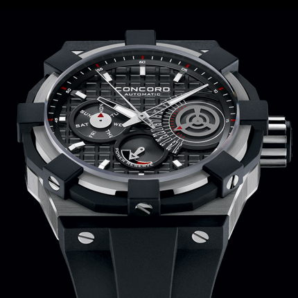 Concord C1. Style # :0320054  Automatic. Titanium Retrograde.  SWISS MADE