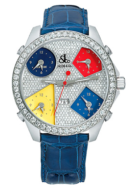 Jacob & Co.Five Time Zone .Style # : JC-45 3.25 carat bezel