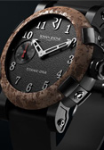 Romain Jerome. Style #: T.OXY2.BBBB.00.BB Titanic DNA. Rusted steel watch coal dial.